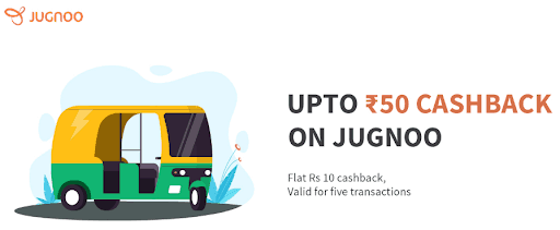 Cashback on Jugnoo