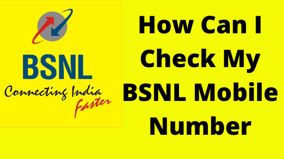 Check My BSNL Mobile Number