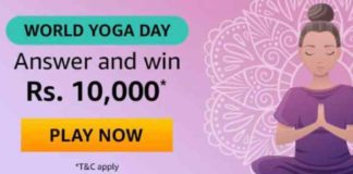 World Yoga Day Quiz Today Answers
