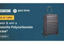 Samsonite polycarbonate suitcase