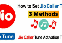 Activate Jio Caller Tune