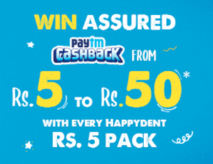 PayTM Happydent Offer